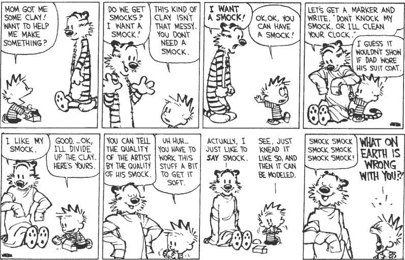 Calvin and Hobbes Smock strips
