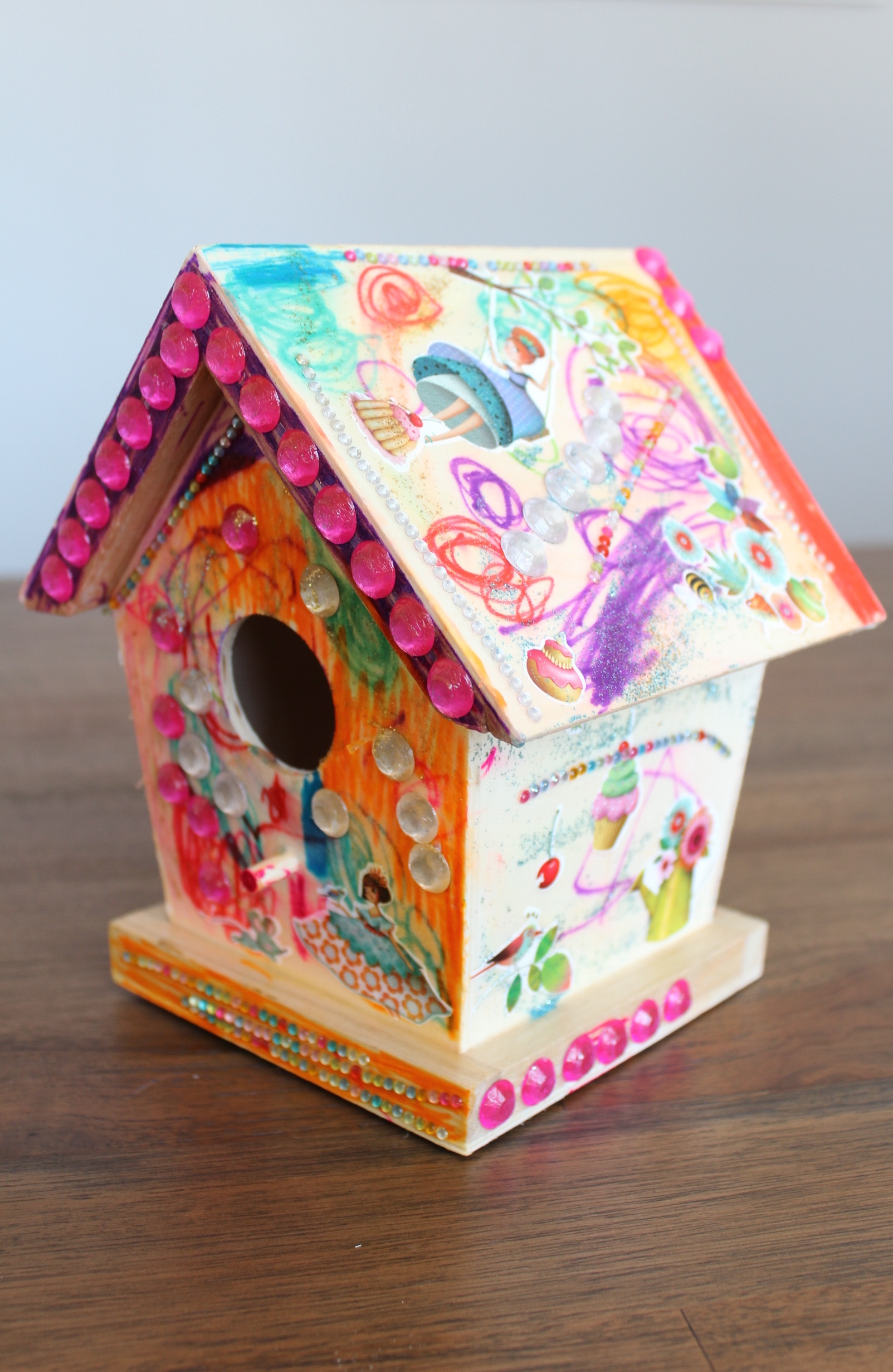 Birdhouse decorated by Danika and Mommy