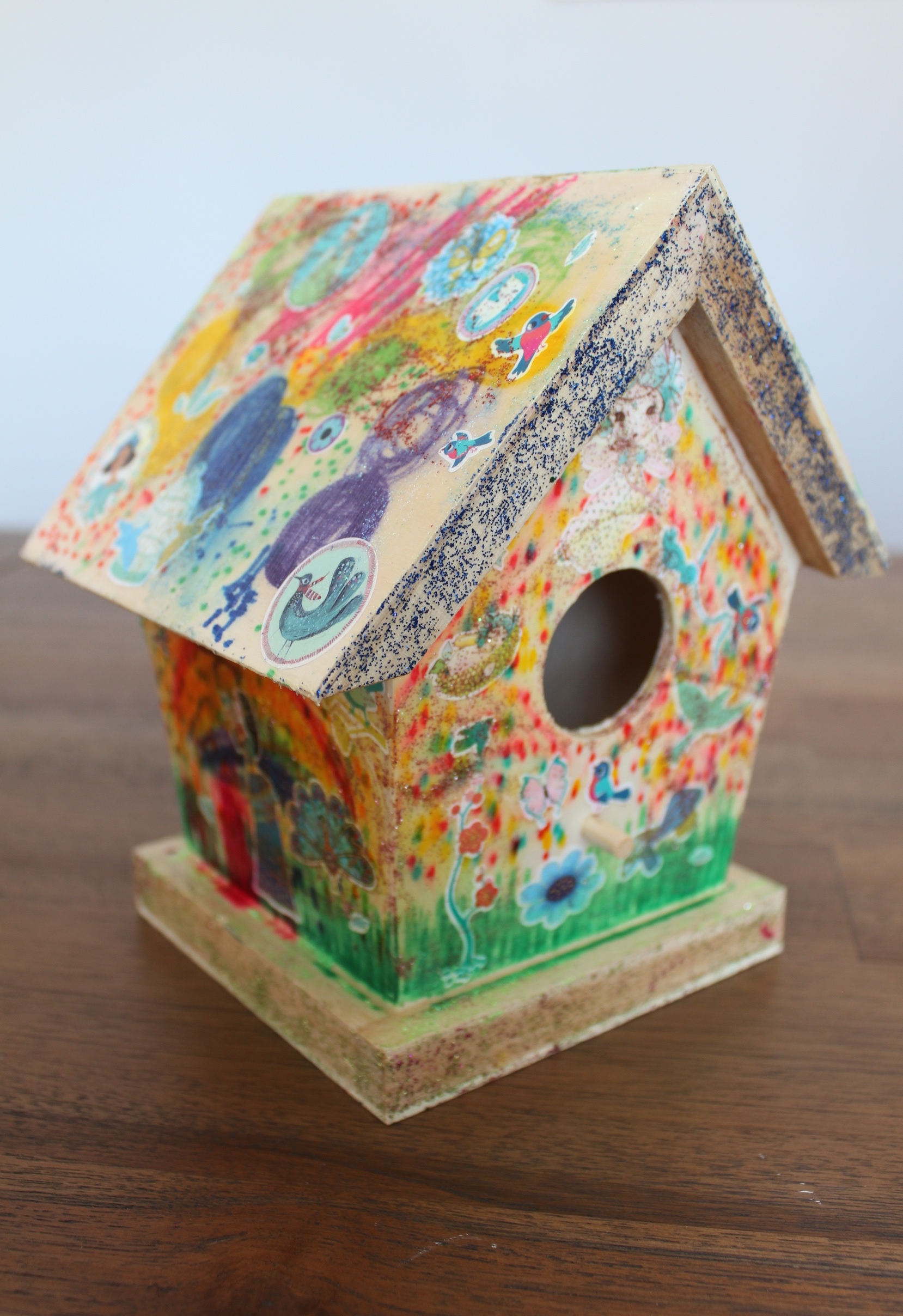Birdhouse decorated by Danika and Mila