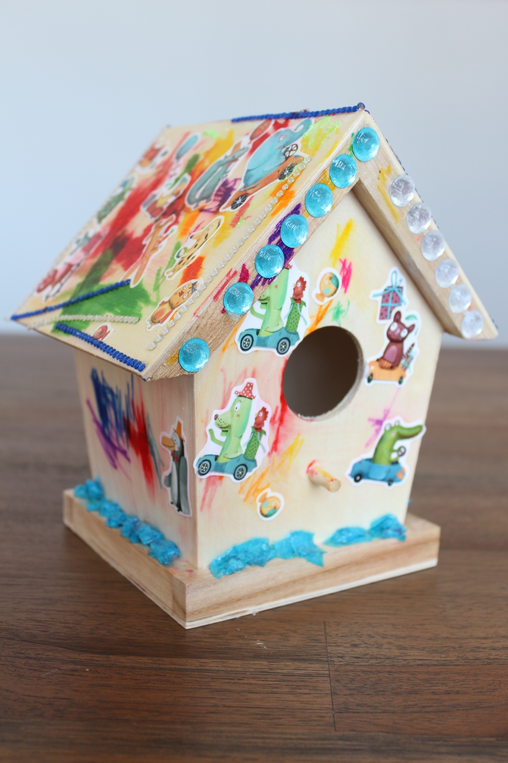 Birdhouse decorated by Liam and Alec