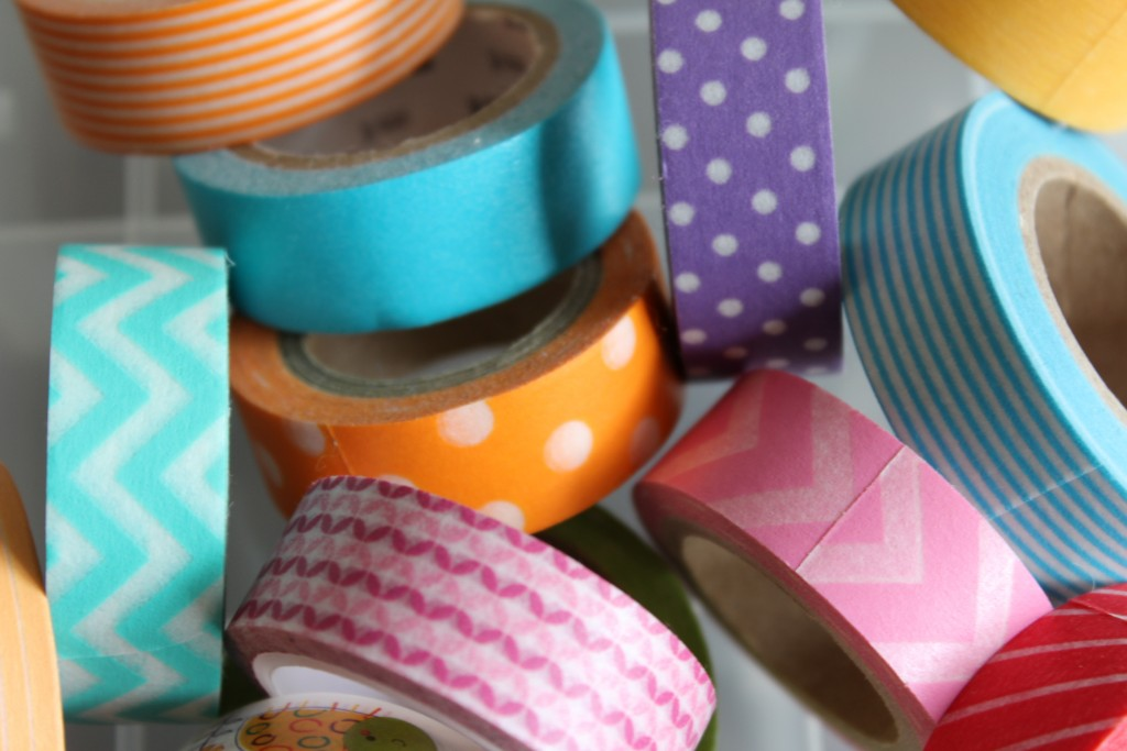 Washi tape for rock collection storage box for kids - Smocks & Shops